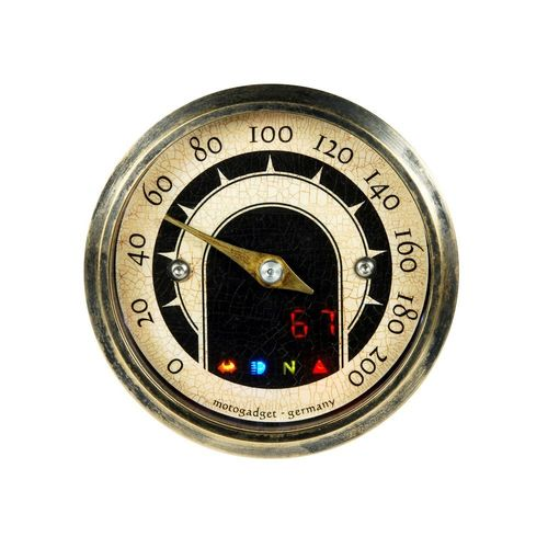 Motogadget MST-Vintage 'Tiny'-Serie TACHOMETER Messing