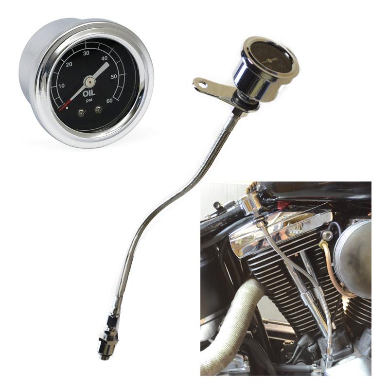 Oil Pressure Gauge Kit Harley Davidson Evo 84-99