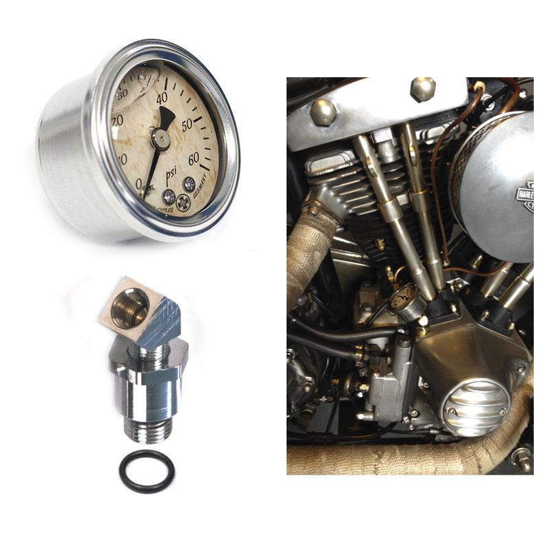 Oil Pressure Gauge With Motor Mount Set Harley
