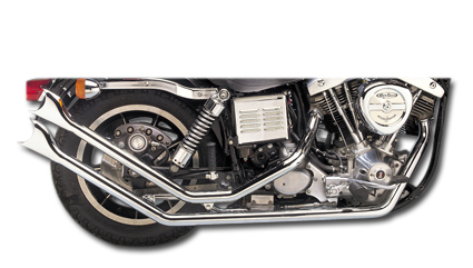"Fishtail Drag Pipes 1 3/4"" for 71-84 FX Models, Harley, Shovelhead"