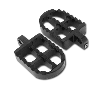 Adjustable Serrated Footpegs by Joker Machine, Short, black