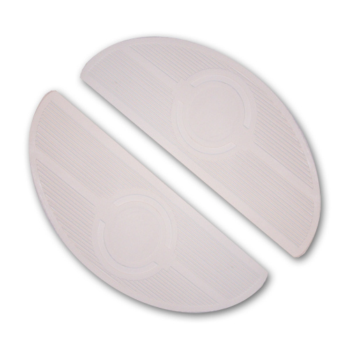Floorboard Mats, Oval -White