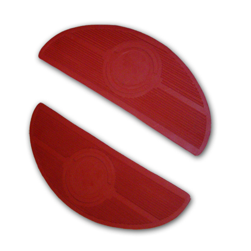 Floorboard Mats, Oval - Red