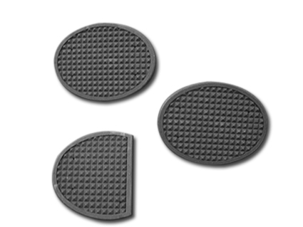 Clutch and Brake Rubber Pads 3 Piece set Black