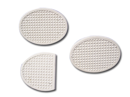Clutch and Brake Rubber Pads 3 Piece  set White
