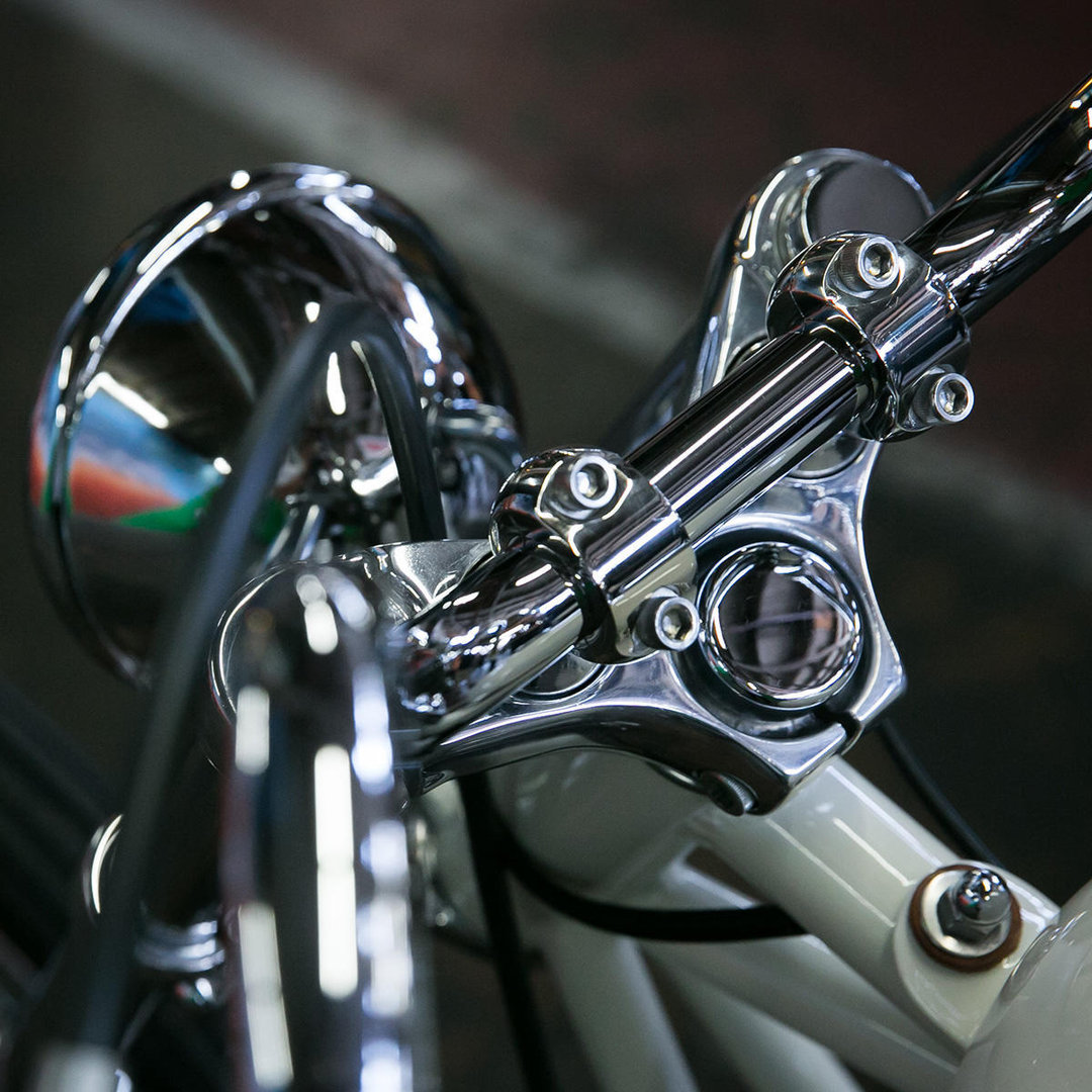 Biltwell Slimline Risers Polished Mve Cycles Com
