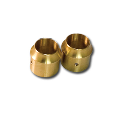 "Paughco 1-3/4"" Brass Short Curve End Cap"