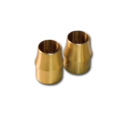 "1-3/4"" Brass Long Curve End Cap"