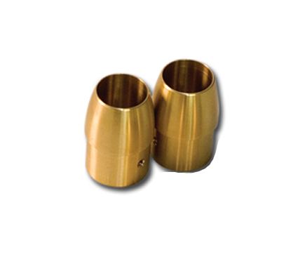 "1-3/4"" Brass Tappered End Cap"