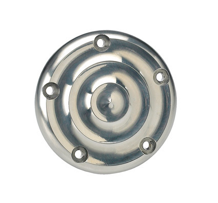 Ripple Ignition Cover - AL Polished 5 Hole