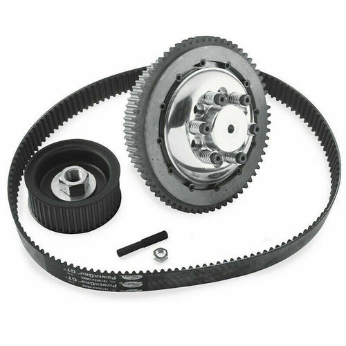 BDL 8 mm 'Bolt-In' Belt Drive Kit fits 4-speed Shovelhead models with chain rear drive from 70-E84