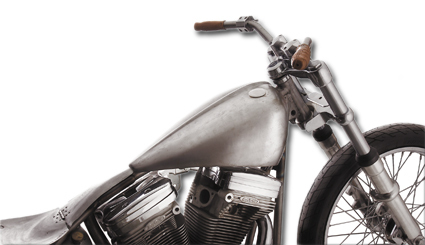 Custom 'Bobber Style' Benzintank Cole Foster Evolution Softail