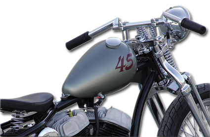 2.2 gallon Custom Narrow Axed style Gas Tank by Paughco