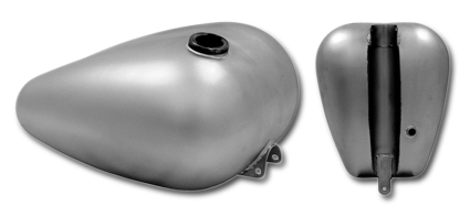 4 gallon Axed Harley-Style Custom tank with single gas cap, 4 gallon