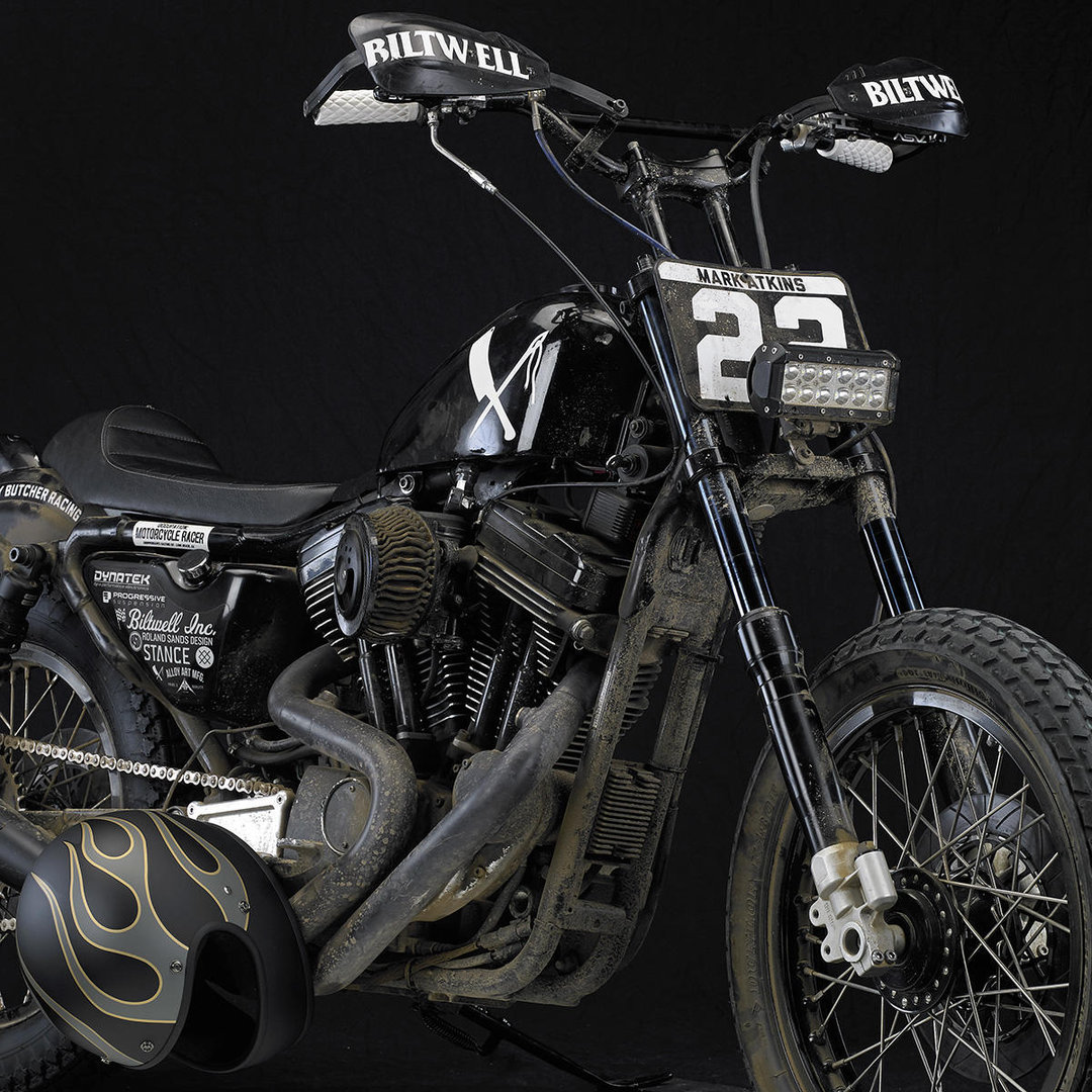 ... Biltwell Handlebars, Moto Bar, Black (Non-Dimpled), Harley Davidson,  F