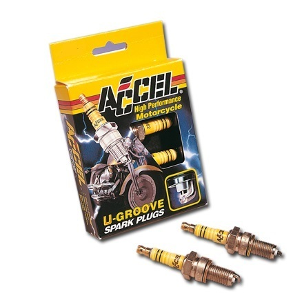 Accel 'U-Groove' Spark Plugs, Accel 2410A, All Evolution 84-99, Harley