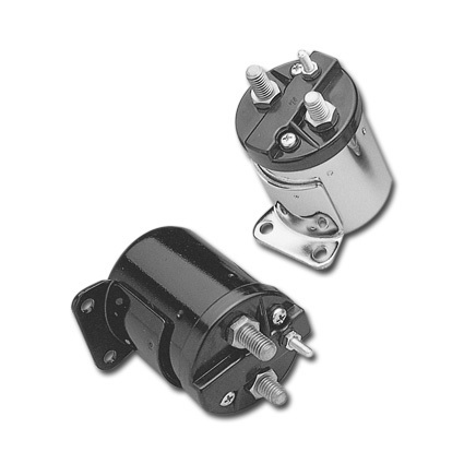 Accel Starter Solenoids (Single Bracket Style), Chrome, Harley Davidson