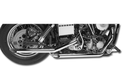 "Santee 2"" 'Slash-Cut' Drag Pipes FX Mod. 71-84 + FLH Mod. 81-84, Harley"