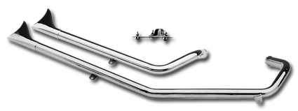 Paughco Upsweep Fishtail Pipes, 57-85 XL models with rigid frames, Harley