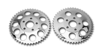 Rear Sprockets for Disc Brake Models, Chrome 49 tooth, Harley Shovelhead 73-85 Sportster 79-81