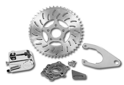 Tolle - Sprocket disc brake kit. 48-tooth slotted sprocket, Harley, Chopper, Custom