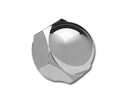 "Chrome Acorn Stem Nut fits FL, FXWG, FX Softail, Dyna mod., 1""x24 thread, Harley"