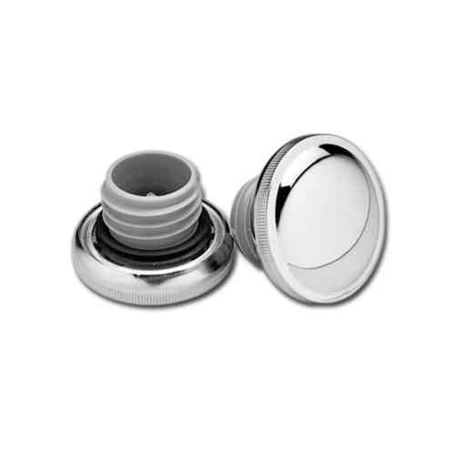 Steel Gas Caps, Chrome, Set of left and right caps, Harley, Chopper, Custom