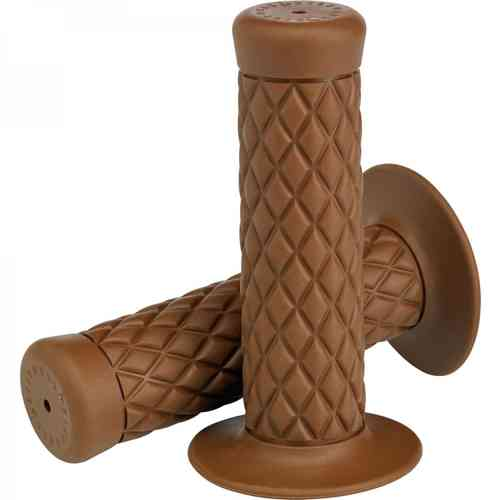 "Biltwell Thruster Grips, chocolate 7/8"", Chopper"