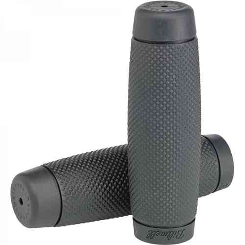 "Biltwell Recoil Grips, dark grey 7/8"", Chopper"