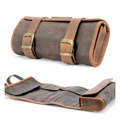 LONGRIDE TOOLBAG WAXED COTTON WITH LEATHER FINISH - brown
