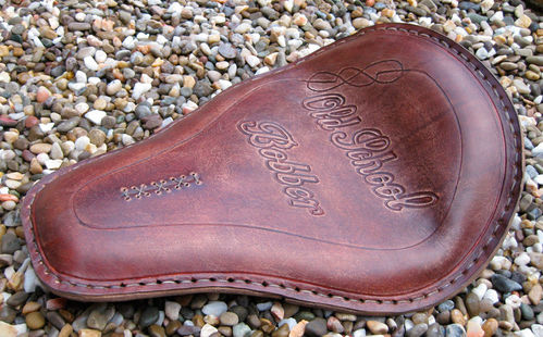 Handmade Leather Soloseat old school bobber, Harley Davidson, Chopper, Bobber