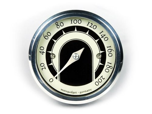 Motogadget Mst Speedster (49 mm analogue speedo)  - Polished
