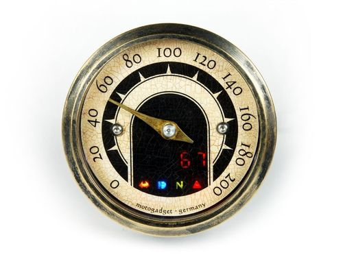 Motogadget Mst Vintage mit Messingring (49 mm Analog-Tacho)