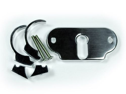 Motogadget msm Combi Handle Bar Clip-Kit Bracket - Polished - 22mm