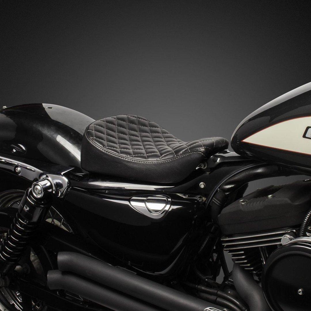 Biltwell Sitz Sporty-8, Seat, Diamond, schwarz, Harley, Sportster ...