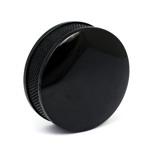 "DRAGTRON 5 1/2"" Round Air Cleaner, Plain BLACK"