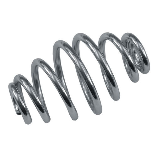 "Tapered Solo Seat Spring, 3"" long, Chrome"